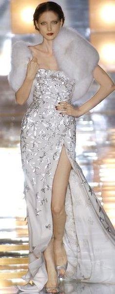 Elie Saab | ❤ Silver & Gold & White ❤)