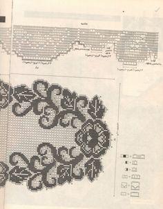 Филейное вязание салфеток и схемы