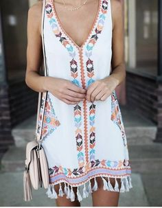 More Colors – More Summer Fashion Trends To Not Miss This Season. 43 Lovely Casual Style Ideas For Your Perfect Look This Fall – Gorgeous! More Colors – More Summer Fashion Trends To Not Miss This Season. Style Bobo Chic, Look Boho Chic, Boho Mode, Mode Hippie, Cute Summer Outfits, Cute Outfits, Boho Summer Dresses, Beach Outfits, Hipster Outfits