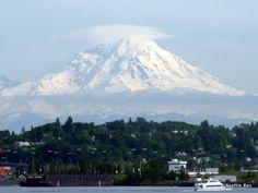 Mt. Rainier from Seattle/Puget Sound, Washington State