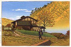 Kawarabata, Gunma, by Kawase Hasui, 1955.