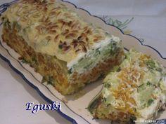 Pastel de verduras (Thermomix) - MundoRecetas.com Empanadas, Brunch, Food And Drink, Yummy Food, Snacks, Vegan, Dishes, Vegetables, Cooking