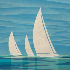 Water Journey II Poster Print by Dan Meneely x Decoration, Art Decor, Room Decor, Poster Prints, Art Prints, Surf Art, Illustrations, Acrylic Art, Framed Artwork