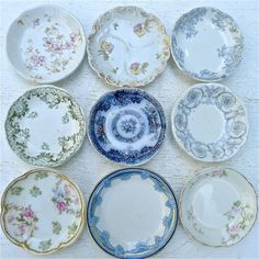 Vintage Antique Butter Pat Collection of Nine Shabby Chic.  via Etsy.