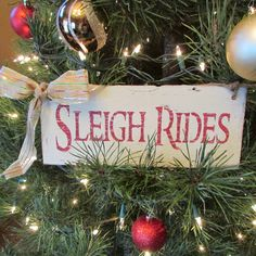 """Primitive """"Sleigh Rides"""" wood lap siding sign by Cherriesprimitives on Etsy https://www.etsy.com/listing/213984595/primitive-sleigh-rides-wood-lap-siding"""