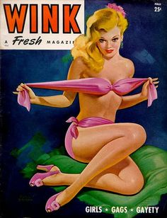 """Fall 1945 vintage Cover of Robert Harrison's """"Wink"""" magazine"""