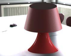 Lamp modeled in SolidWorks for #disenobasico
