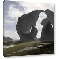 Cynthia Decker Low Tide Gallery-Wrapped Canvas, Size: 36 x 36, Blue