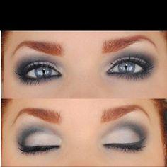 Gray & white eyeshadow