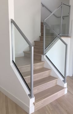 A look back at these beautiful interior glass railings we contracted out for a project in Oakville . Glass Stair Balustrade, Glass Railing, Deck Railings, Interior Railings, Vancouver, Glass Stairs, Commercial, Modern Glass, Beautiful Interiors