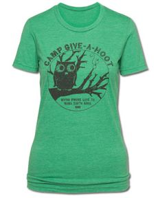 SoulFlower-Camp Give a Hoot Women's T-Shirt-$26.00 size XL