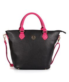 This Black & Pink Merry Crossbody Bag is perfect! #zulilyfinds