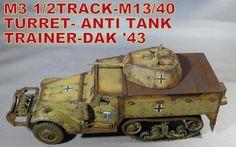 M3 Halftrack w/M13/40 Turret tank trainer.  DAK '43 (February15, 2015)