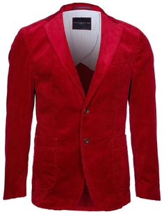 NWT Tommy Hilfiger Tailored Mens Cords Suit Jacket Blazer Red Romus 1 W 50