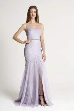 Glamorous bridesmaid gown by Monique Lhuillier