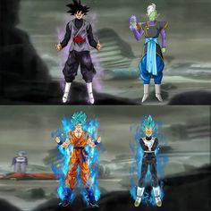Dragon Ball Super Heroes Goku Black Zamasu Goku Blue Vegeta Blue - http://wallpaperzone.co/2016/08/31/dragon-ball-super-heroes-goku-black-zamasu-goku-blue-vegeta-blue/