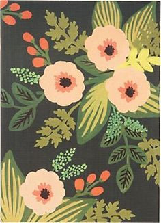 Rifle Botanical Green Floral Journal