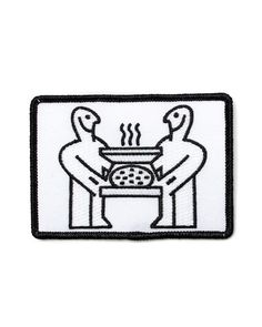 """Do you know how to have a good time? This patch walks you through the two steps needed. Get a friend and a pizza. That's it. Open the pizza and enjoy with your bud.100% embroidered patchIron-on backingMeasurements: 2.35""""x 3.5""""By FLTodd"""
