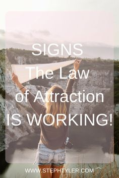 Signs the Law Of Attraction Is workingI just wanted to write a short(ish) article on for some of us that have been working on manifesting, and are dying to kno
