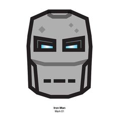 Ironman mark 01 #Ironman #starl #tony #tonystark #mark #avengers #character #design #face #icon #illustration #pictogram #marvel #아이언맨 #토니스타크