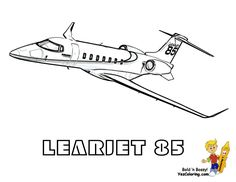 Big Money Airplane Coloring Page Of LearJet 85 You Can Print Out This