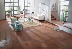 Master a traditional country farmhouse floor with these Aragon Terracotta Red Anti Slip 15 Quarry Tiles! Farmhouse Flooring, Kitchen Flooring, Terrazzo Flooring, Barn Conversion Kitchen, Grey Wall Tiles, Quarry Tiles, Terracotta Floor, Tiles Price, Houses