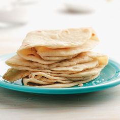 Homemade Tortillas Recipe -I usually have to double this recipe because we go through these so quickly. The tortillas are so tender, chewy and simple, you'll never use store-bought again. —Kristin Van Dyken, West Richland, Washington