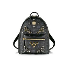 MCM Small Stark Backpack ($890) ❤ liked on Polyvore featuring bags, backpacks, black, handbags and mcm