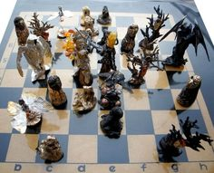 The chess composition resembles a scene from a battle between 2 fairy kingdoms. The chess pieces are made of silver and bronze, decorated with amber.  #rekamistworzone #tamborska #rekami_stworzone #iwona #iwonatamborska #iwonat #chess #silverchess# artchess #fairychess #moviechess #artjewelry #artist #jewelryartist #handmade #handmadechess #exclusivechess