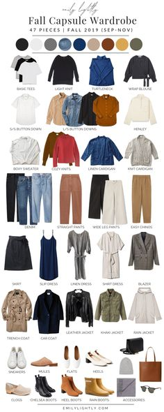 My Fall 2019 Capsule Wardrobe - Emily Lightly // slow fashion, fall capsule wardrobe, fall outfit ideas Source by Fall Fashion Capsule Outfits, Fall Capsule Wardrobe, Fashion Capsule, Work Wardrobe, Mode Outfits, Fall Outfits, Fashion Outfits, Wardrobe Basics, Capsule Clothing