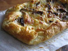 Mozzarella and Sundried Tomato Puff Pastry Galette~