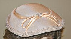 Vintage Champagne Beige & Peach Hat Near Mint by Nicholettes, $44.95-wow! vintagedooney.com