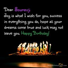 Lovely Birthday Wish With Name Souravji Happy Wishes Sister