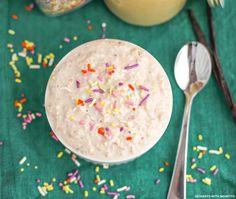 Healthy Cake Batter Overnight Dessert Oats (sugar free, gluten free, vegan) - Desserts with Benefits