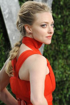 For a more polished version, pull a few strands out from the crown, like Amanda Seyfried.