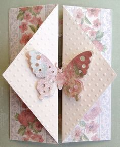 Paper: French Country Stack by DCWV Quick Kutz Butterfly Swiss Dot EF