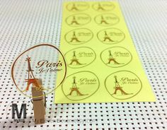 40 Paris Eiffel Tower Je t'aime Transparent by MyElevenEleven, $2.90