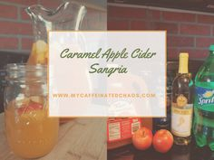 Caramel Apple Cider Sangria Recipe - - In a world full of pumpkin spice lattes, be a glass of Caramel Apple Cider Sangria. This is the perfect sangria recipe for your next fall occasion! Best Apple Cider, Bourbon Apple Cider, Apple Cider Cocktail, Apple Cider Sangria, Hard Apple Cider, Cider Cocktails, Apple Brandy, Caramel Apple Sangria, Caramel Apples