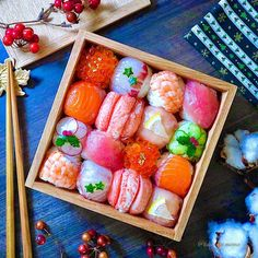 Japanese New Year Food, Japanese Dishes, Sushi Recipes, Asian Recipes, Cute Food, Yummy Food, Sushi Co, Japanese Restaurant Design, Food Art For Kids