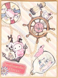 maritime Sentimental Circus 10-pocket A4 /A3 file folder 1 Cartoon Town, Day Designer, File Folder, Life Savers, Cute Designs, Sanrio, Holi, Fairy Tales, Hello Kitty