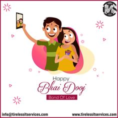 #TirelessITServices wishes you a very happy #BhaiDooj. #brothersisterlove #BondOfLove #specialday #celebrations #happiness #BhaiDoojGifts #festivals #marketingagency