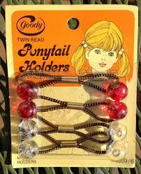1970's ponytail holders