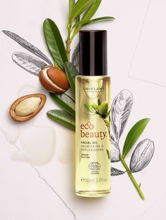 By Oriflame Cosmetics Eco Beauty, Beauty Skin, Health And Beauty, Beauty Tips, Natural Oils, Natural Skin Care, Vegan Box, Organic Argan Oil, Cosmetics Ingredients