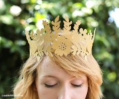 DIY Fairy Princess Paper Crown