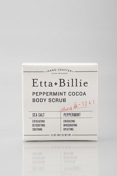 Beautiful typographic packaging from Etta + Billie who produce sustainable bath and body products using organic and natural ingredients.