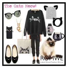 """""""Romwe- Letters Sweatshirt!"""" by tropicalhaven ❤ liked on Polyvore featuring DKNY, Tri-coastal Design, Forever 21, Betsey Johnson, Allurez and Eugenia Kim"""