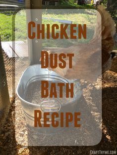 How to make a chicken dust bath for your flock. Dust bathing helps control mites and clean feathers How to make a chicken dust bath for your flock. Dust bathing helps control mites and clean feathers for a healthier flock. Chicken Garden, Chicken Life, Backyard Chicken Coops, Chicken Coop Plans, Building A Chicken Coop, Diy Chicken Coop, Chickens Backyard, Chicken Runs, Chicken Feeders
