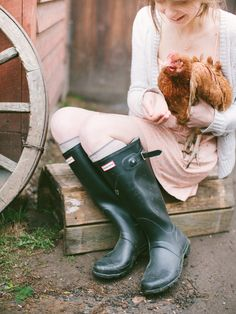 ...understanding that farm boots are a real part of life - and being totally okay with that.