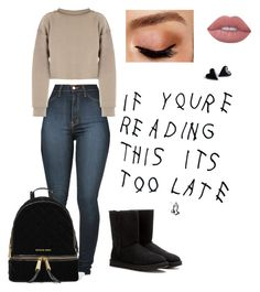 """Untitled #271"" by jordannicole0304-1 on Polyvore featuring Vibrant, My Mum Made It, UGG Australia, Avon, Lime Crime and MICHAEL Michael Kors"