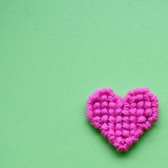 For Valentine's Day make your own cross-stitched heart pendant to wear or to give to someone special.